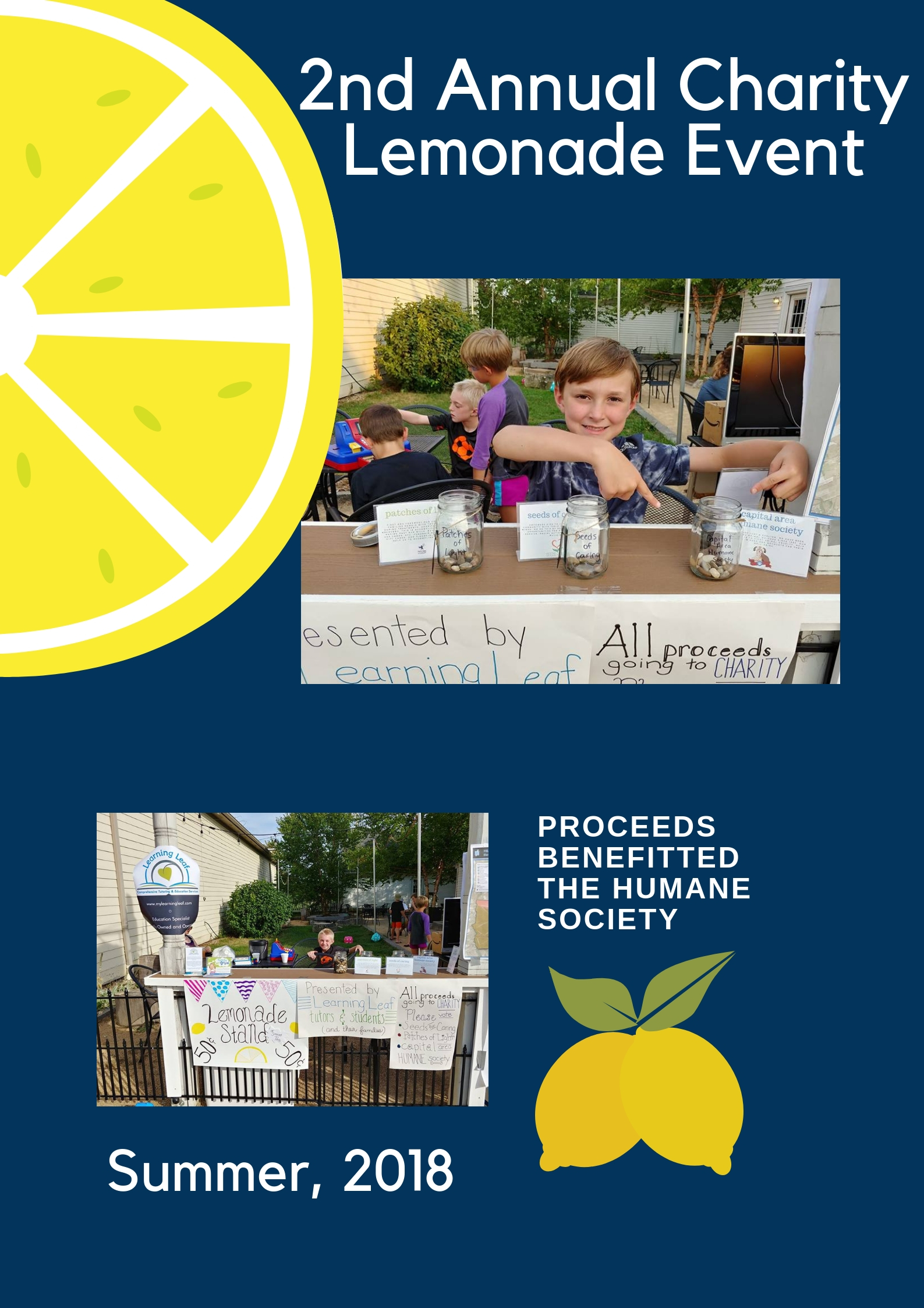 Learning Leaf Charity Lemonade Stand